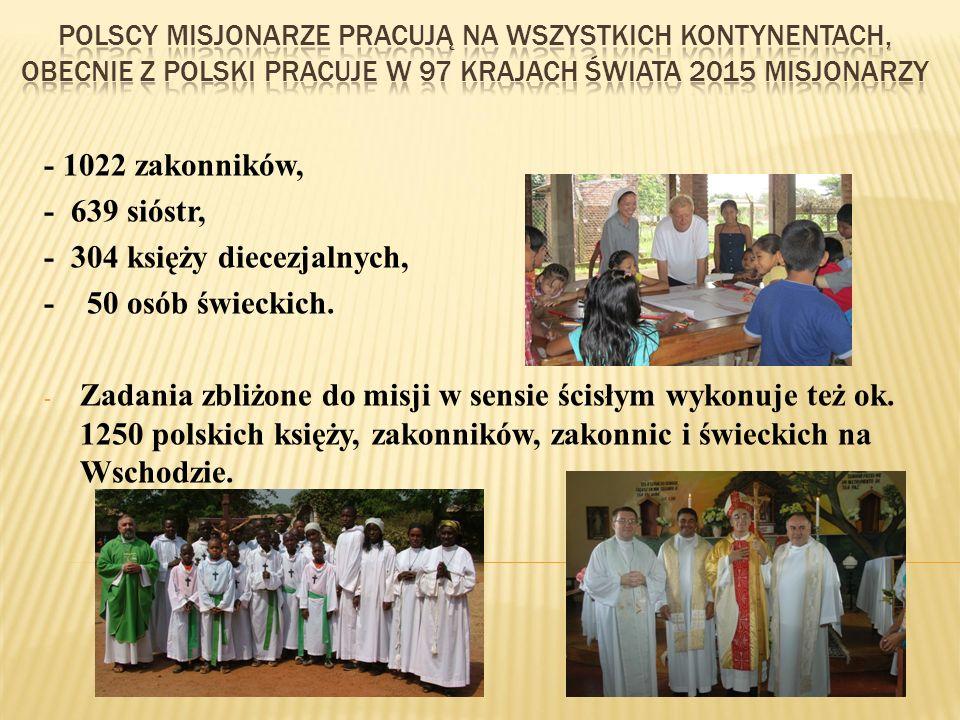 - 304 księży diecezjalnych, - 50 osób świeckich.