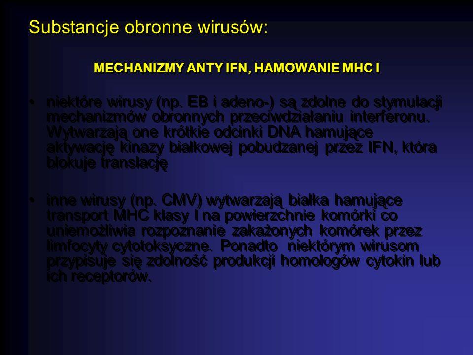MECHANIZMY ANTY IFN, HAMOWANIE MHC I