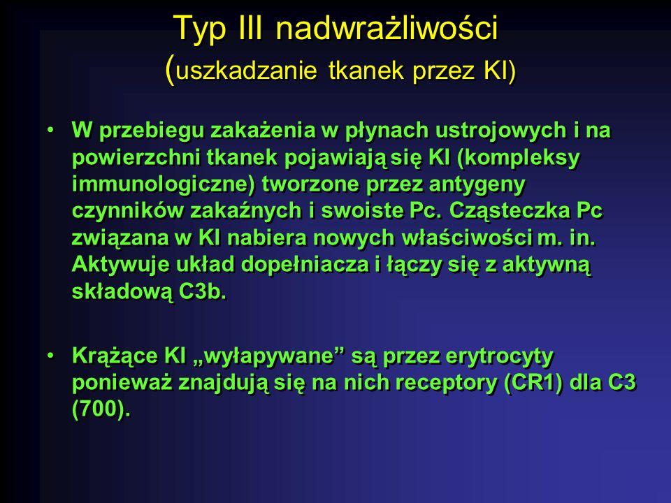 Typ III nadwrażliwości (uszkadzanie tkanek przez KI)