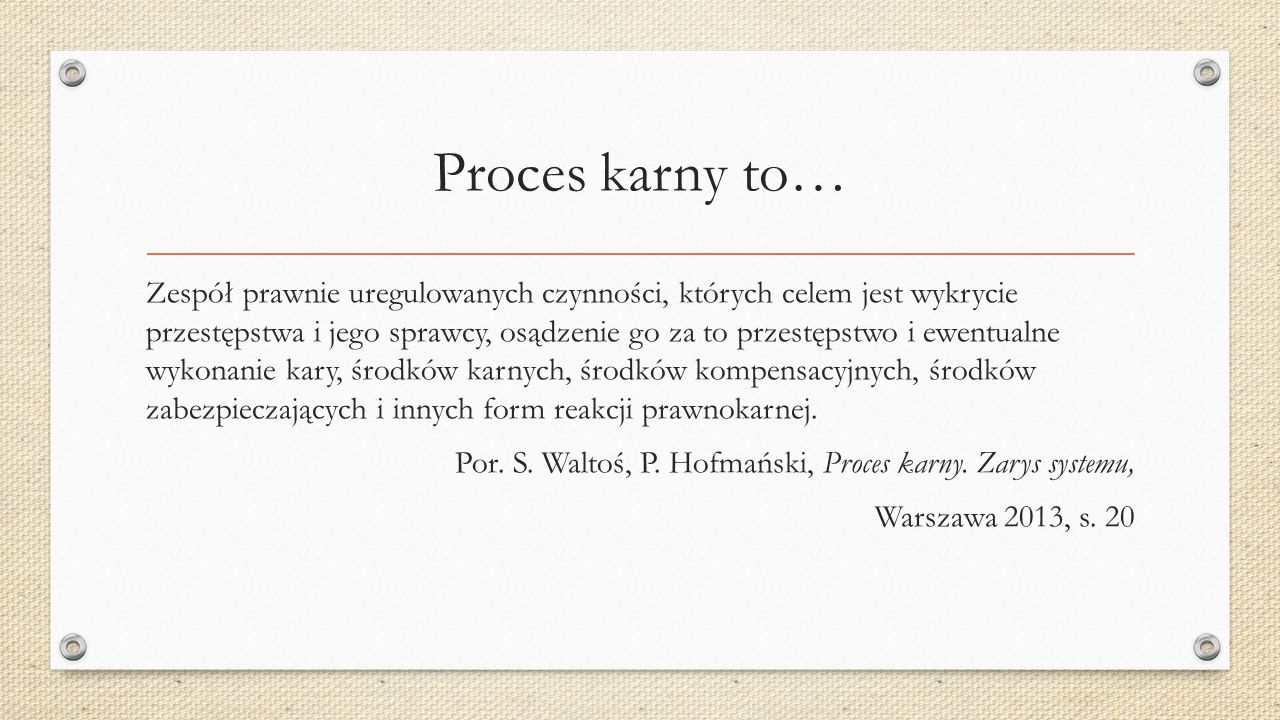 Proces karny to…