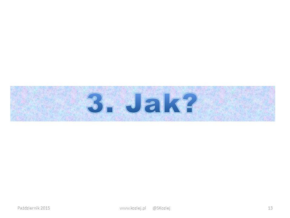 3. Jak Październik 2015 www.koziej.pl @SKoziej