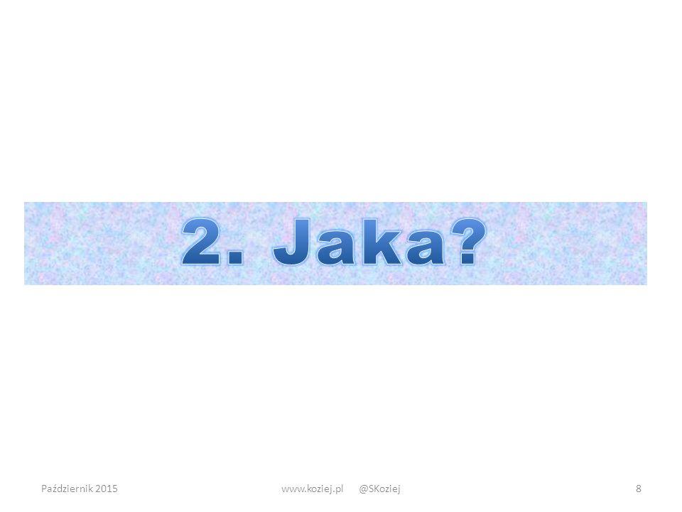 2. Jaka Październik 2015 www.koziej.pl @SKoziej