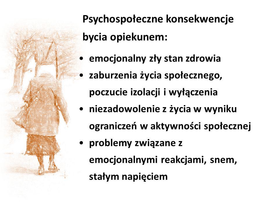Psychospołeczne konsekwencje bycia opiekunem: