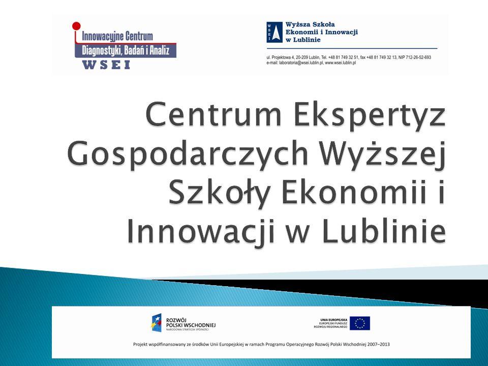 Centrum Ekspertyz Gospodarczych Wyższej Szkoły Ekonomii i Innowacji w Lublinie