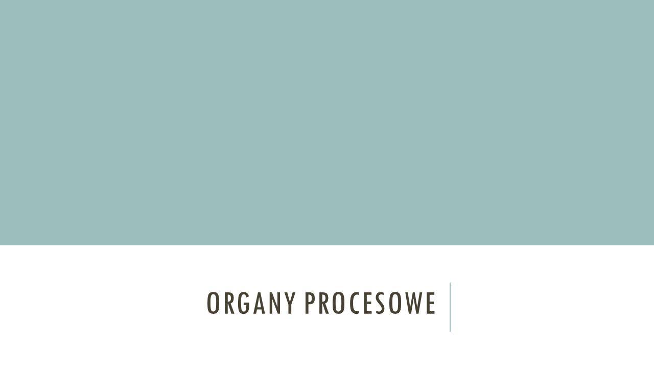 Organy procesowe