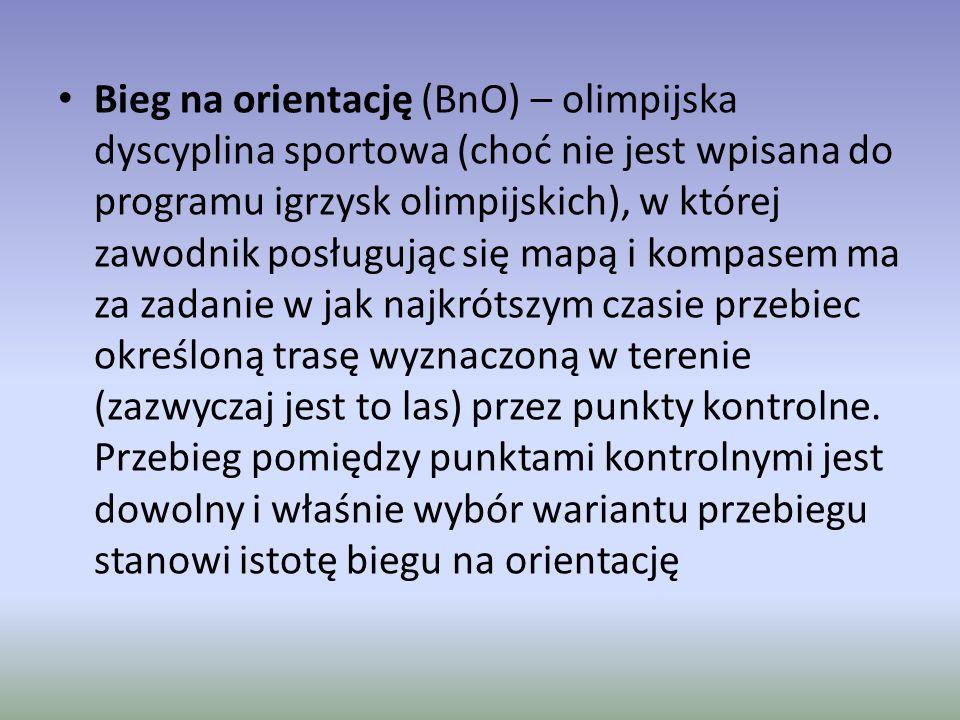 Bieg na orientację (BnO) – olimpijska dyscyplina sportowa (choć nie jest wpisana do programu igrzysk olimpijskich), w której zawodnik posługując się mapą i kompasem ma za zadanie w jak najkrótszym czasie przebiec określoną trasę wyznaczoną w terenie (zazwyczaj jest to las) przez punkty kontrolne.