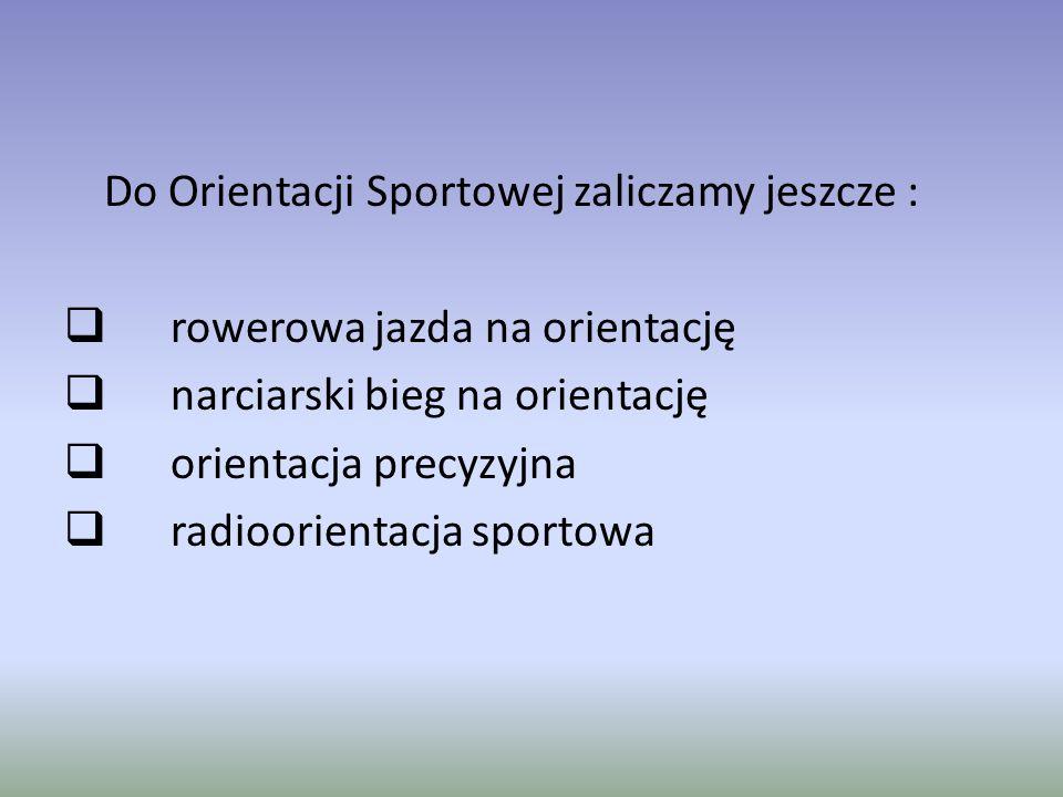 Do Orientacji Sportowej zaliczamy jeszcze :