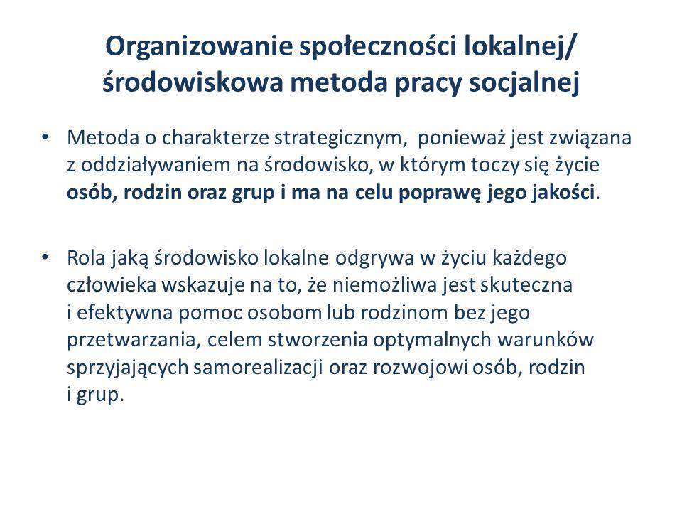 pitu Organizowanie społeczności lokalnej/ środowiskowa metoda pracy socjalnej.