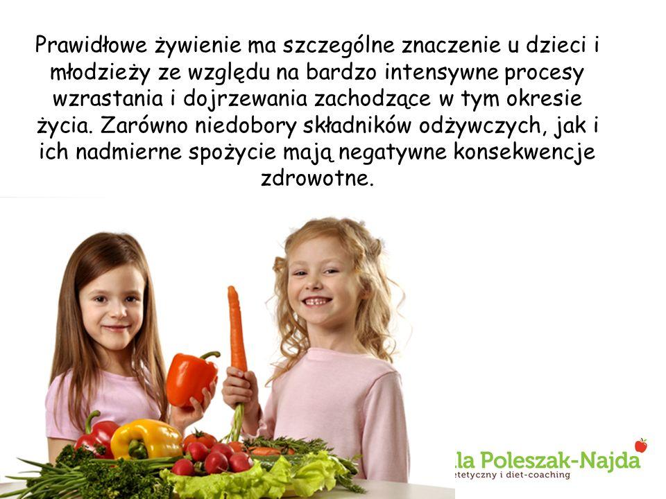 Prawidłowe żywienie ma szczególne znaczenie u dzieci i młodzieży ze względu na bardzo intensywne procesy wzrastania i dojrzewania zachodzące w tym okresie życia.