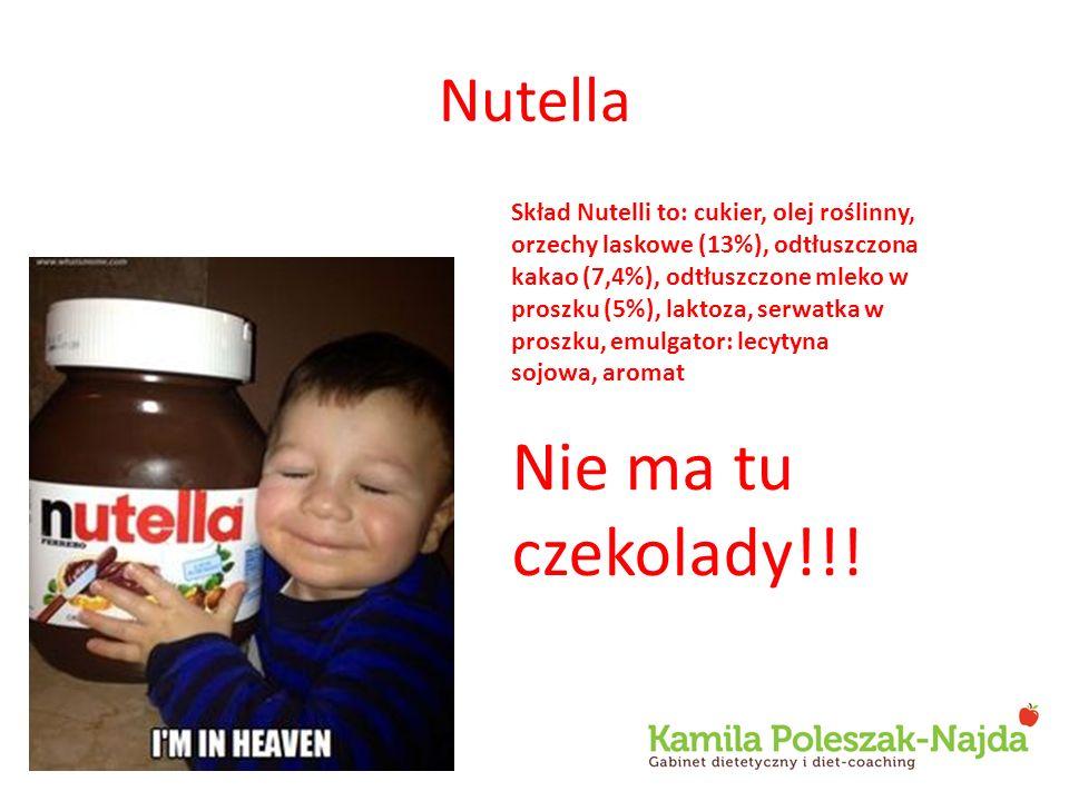 Nie ma tu czekolady!!! Nutella