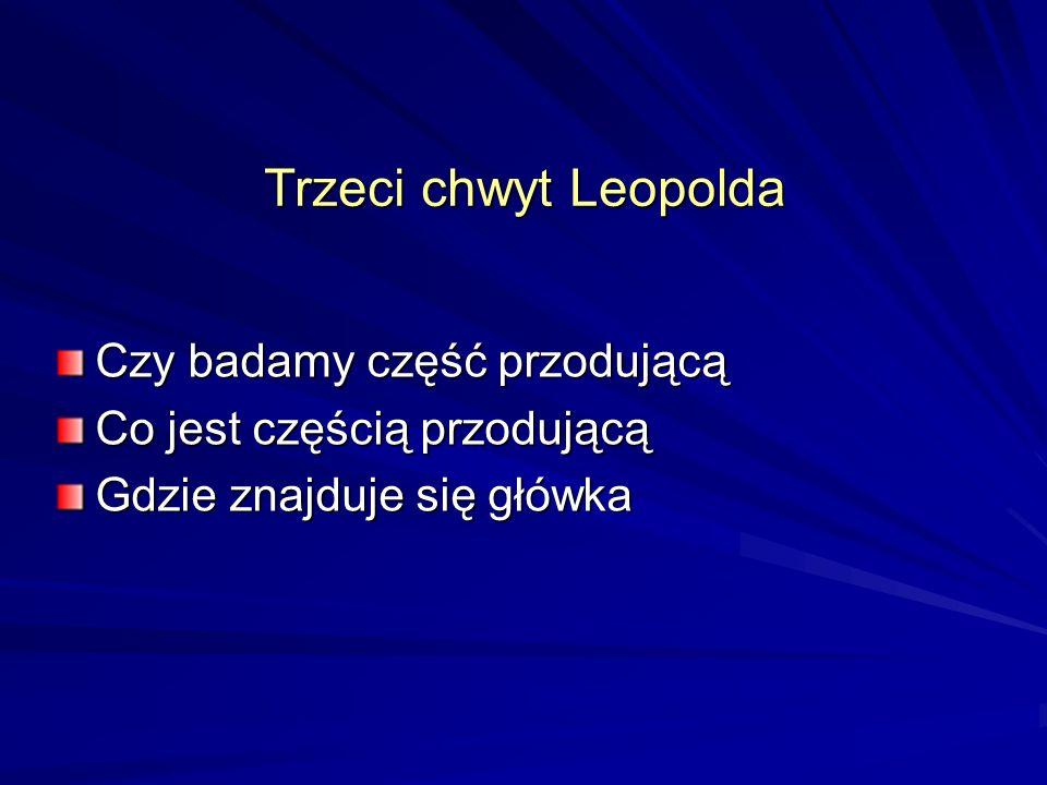 Trzeci chwyt Leopolda Czy badamy część przodującą