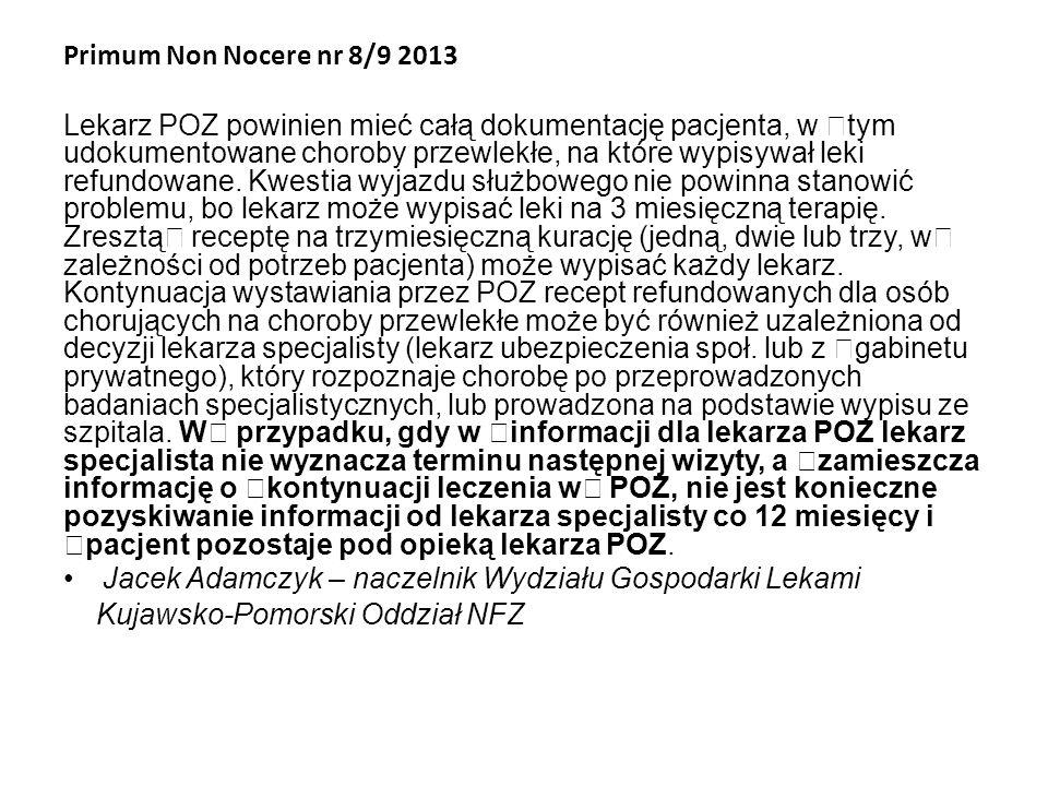 Primum Non Nocere nr 8/9 2013