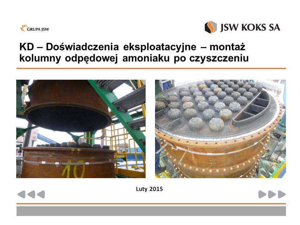 KD – Doświadczenia eksploatacyjne – montaż kolumny odpędowej amoniaku po czyszczeniu