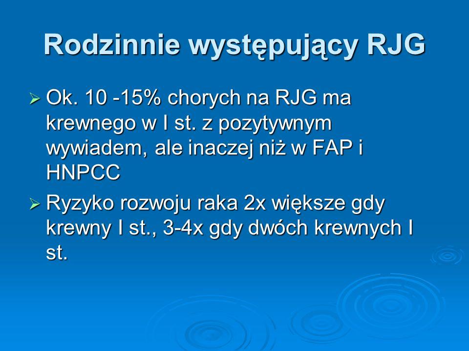 Rodzinnie występujący RJG