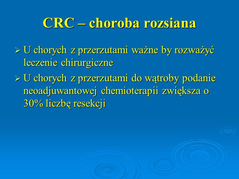 CRC – choroba rozsiana U chorych z przerzutami ważne by rozważyć leczenie chirurgiczne.