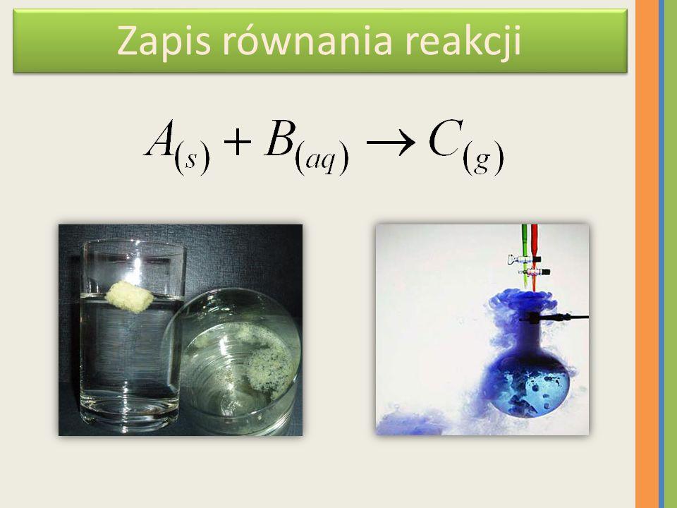 Zapis równania reakcji