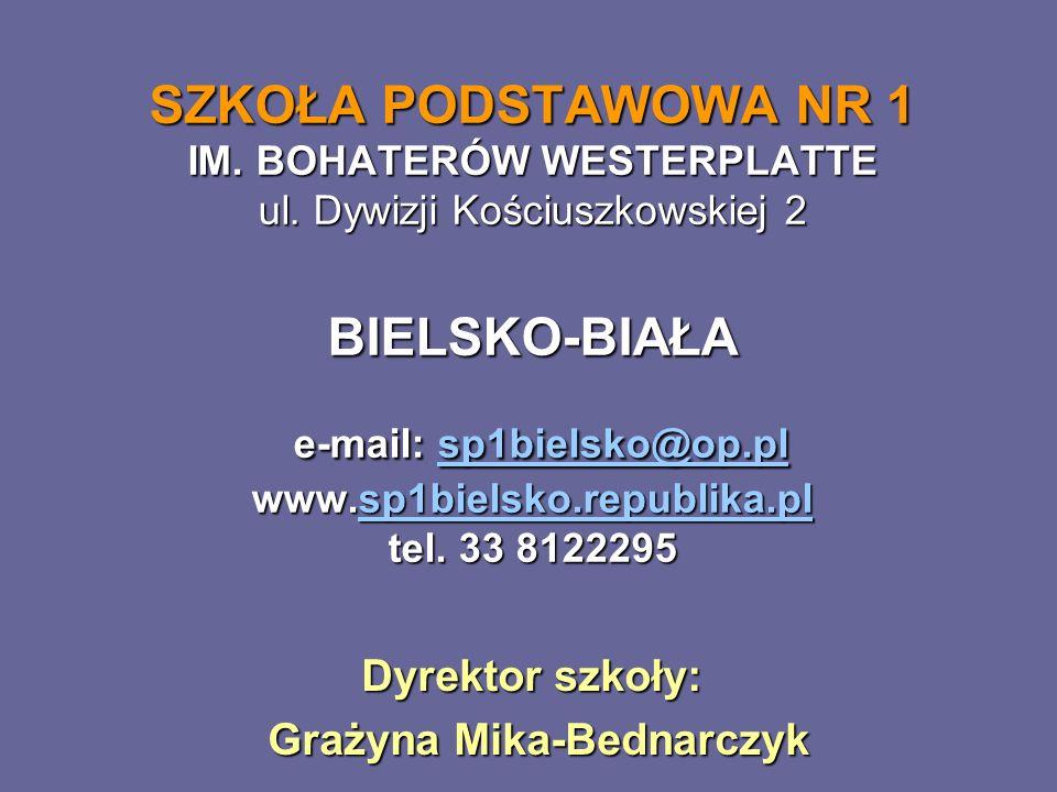 Dyrektor szkoły: Grażyna Mika-Bednarczyk