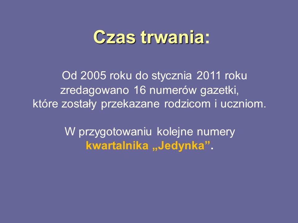 Czas trwania: Od 2005 roku do stycznia 2011 roku