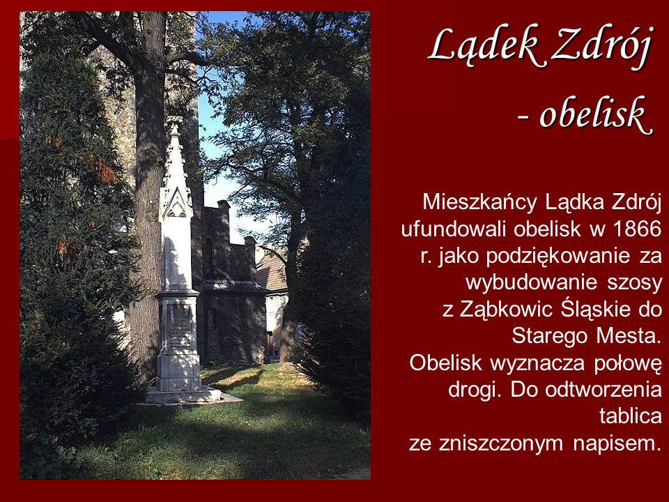 Lądek Zdrój- obelisk.