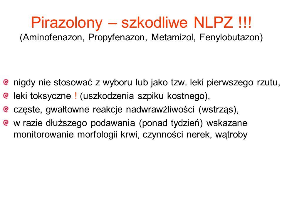 Pirazolony – szkodliwe NLPZ