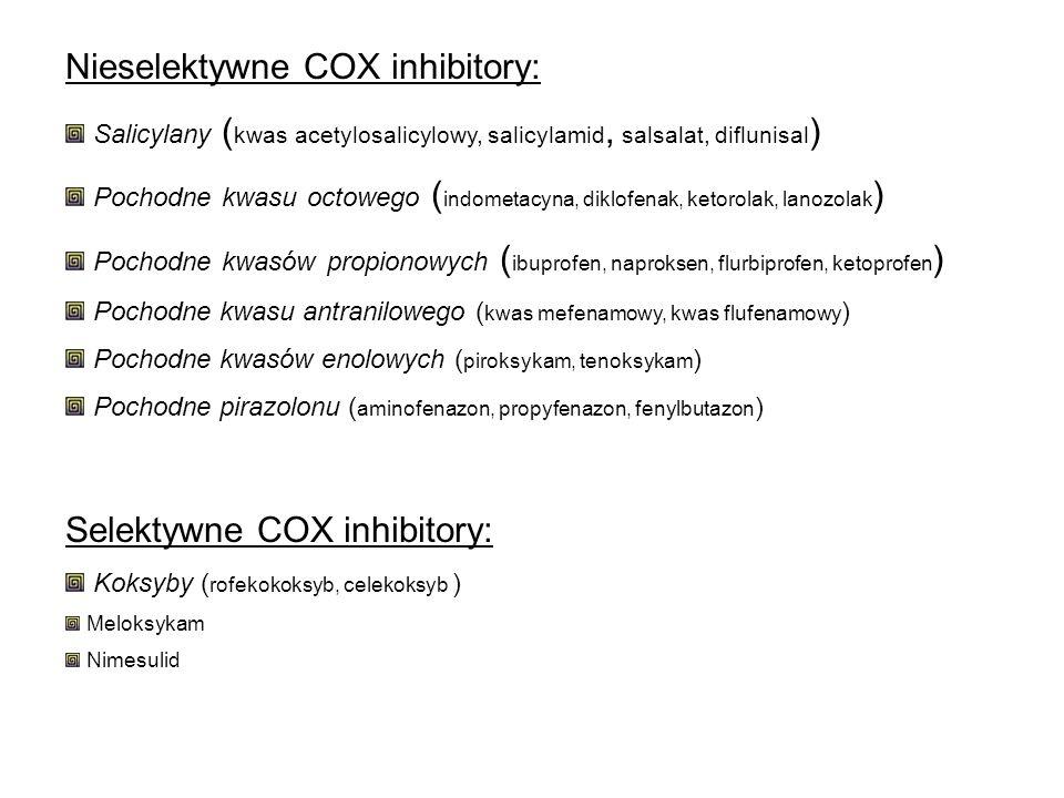 Nieselektywne COX inhibitory: