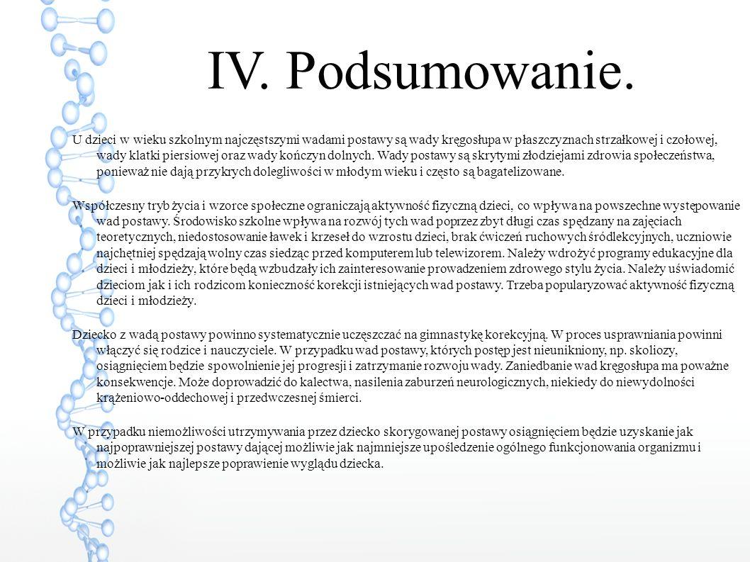 IV. Podsumowanie.