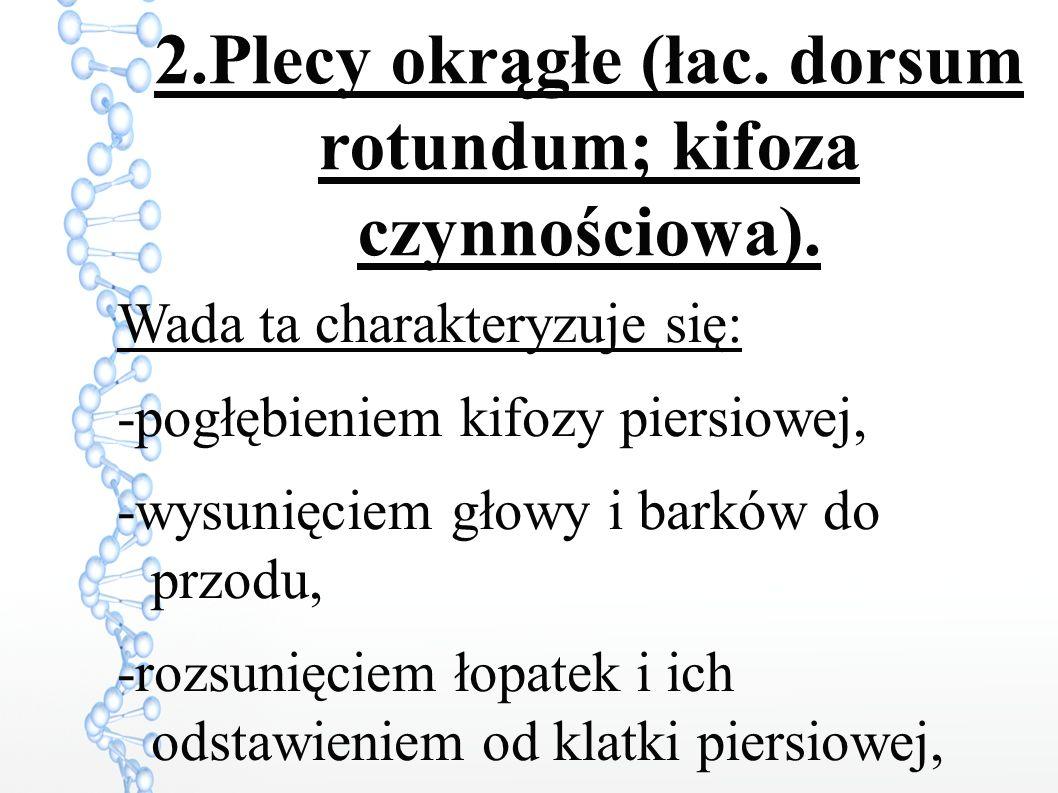 2.Plecy okrągłe (łac. dorsum rotundum; kifoza czynnościowa).
