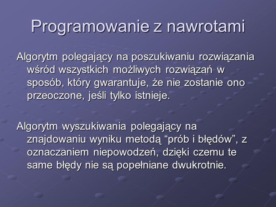 Programowanie z nawrotami
