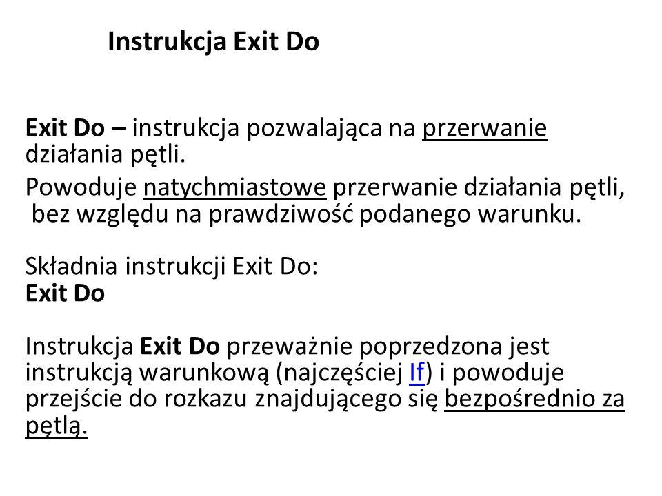 Instrukcja Exit Do