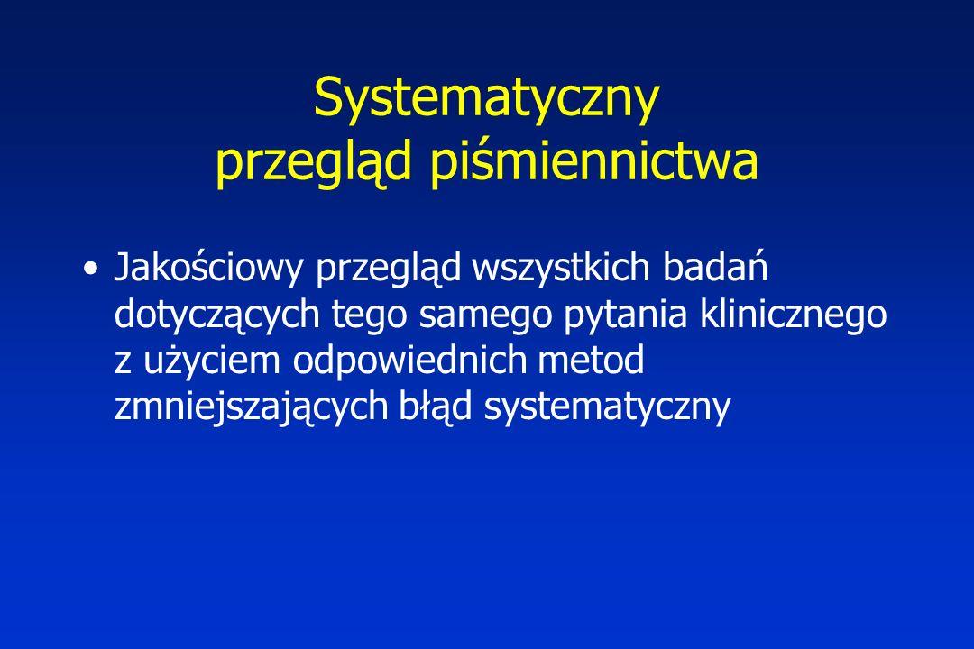 Systematyczny przegląd piśmiennictwa