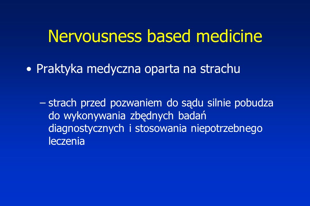 Nervousness based medicine