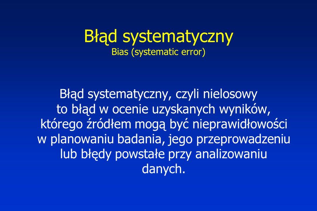 Błąd systematyczny Bias (systematic error)