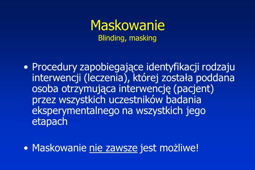 Maskowanie Blinding, masking