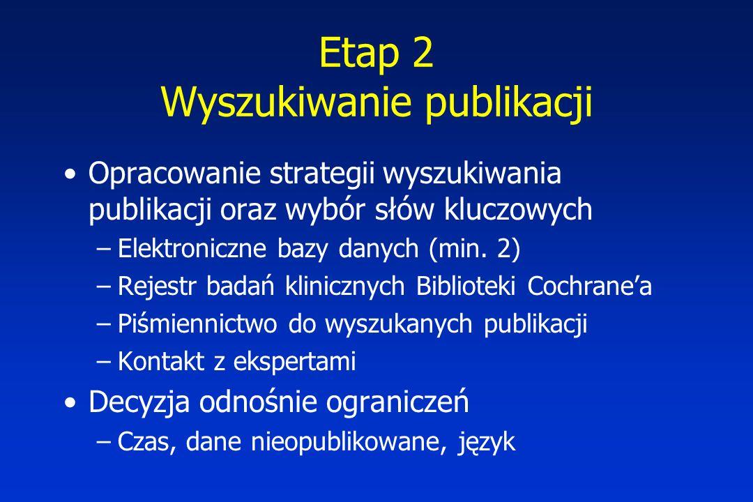 Etap 2 Wyszukiwanie publikacji