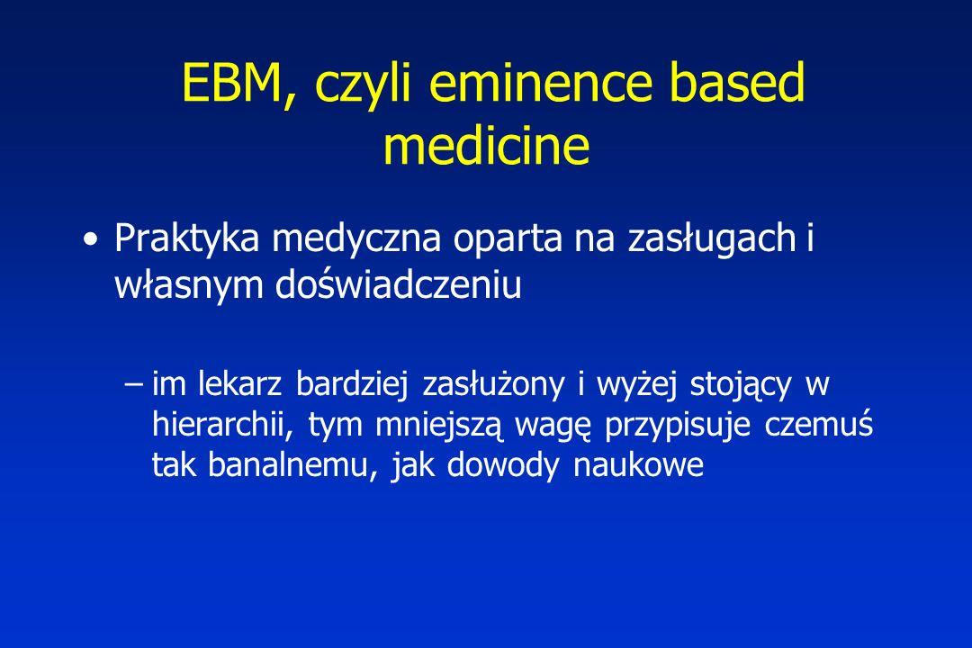EBM, czyli eminence based medicine