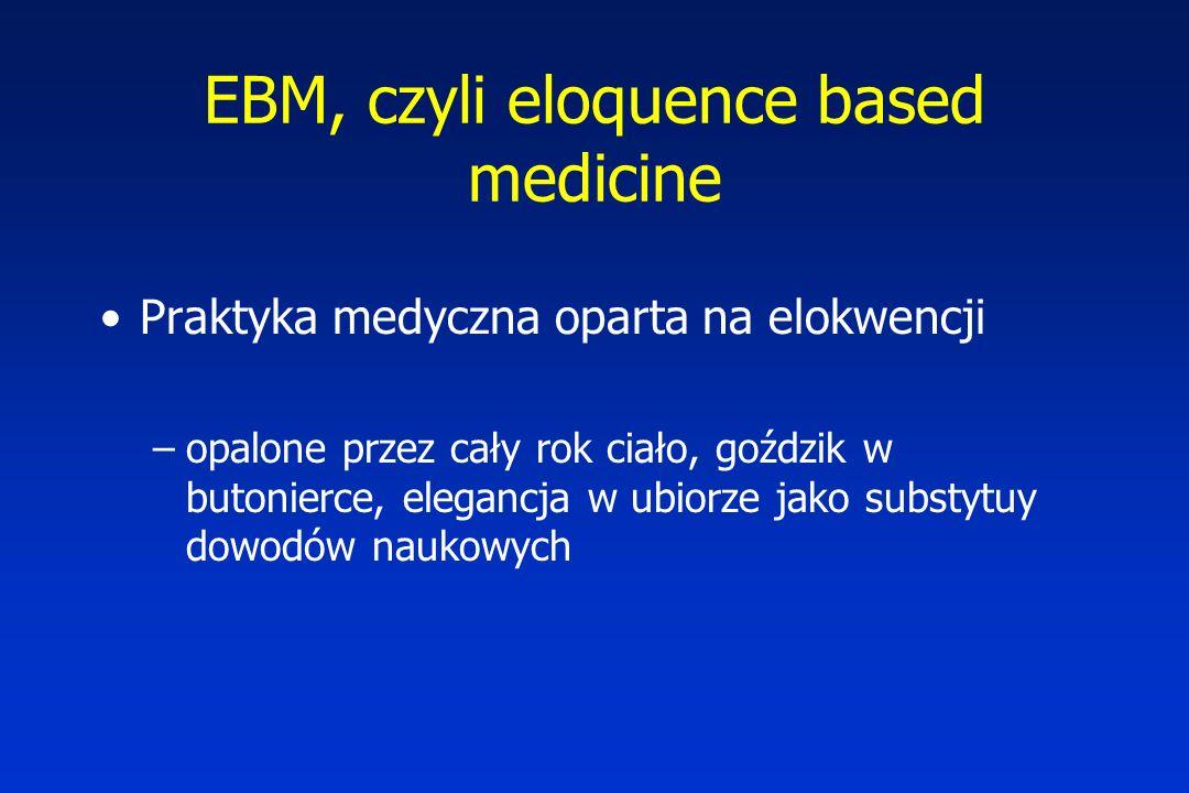 EBM, czyli eloquence based medicine