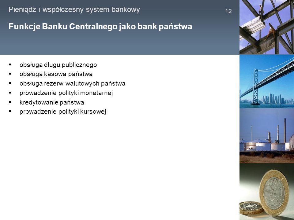 Funkcje Banku Centralnego jako bank państwa