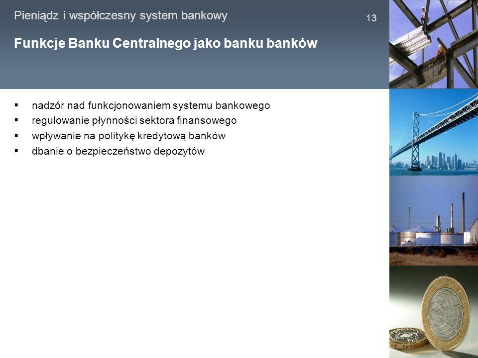 Funkcje Banku Centralnego jako banku banków