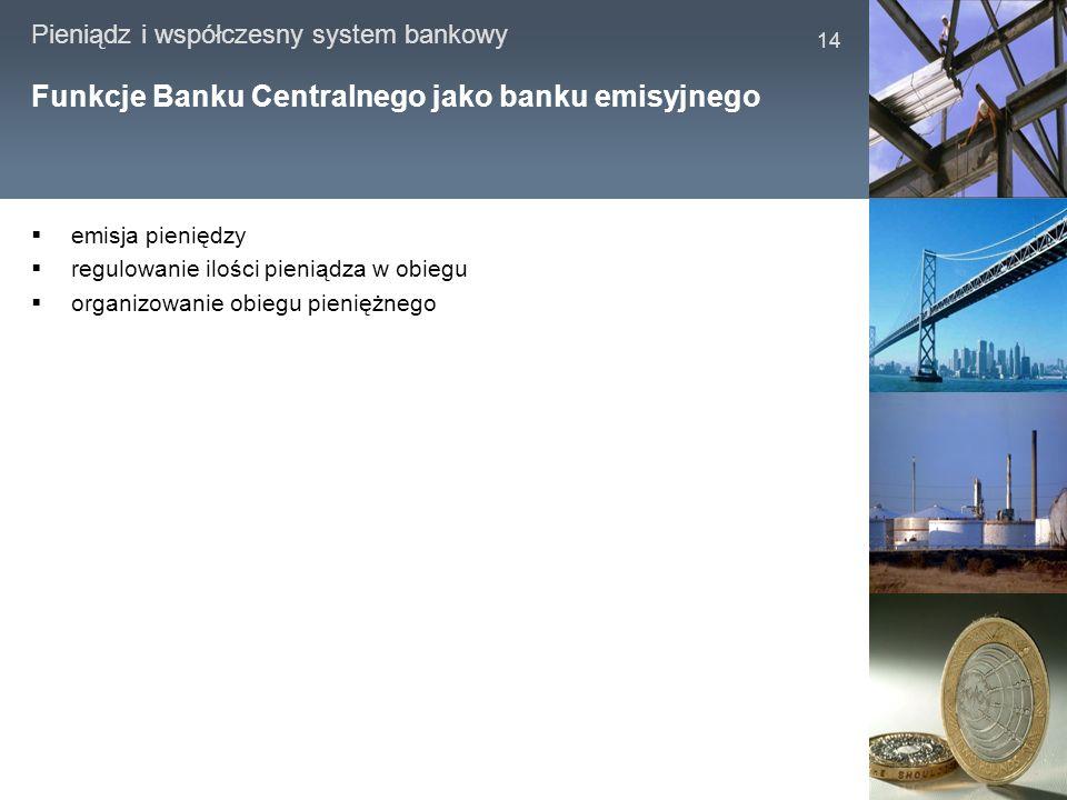 Funkcje Banku Centralnego jako banku emisyjnego