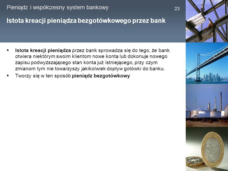Istota kreacji pieniądza bezgotówkowego przez bank