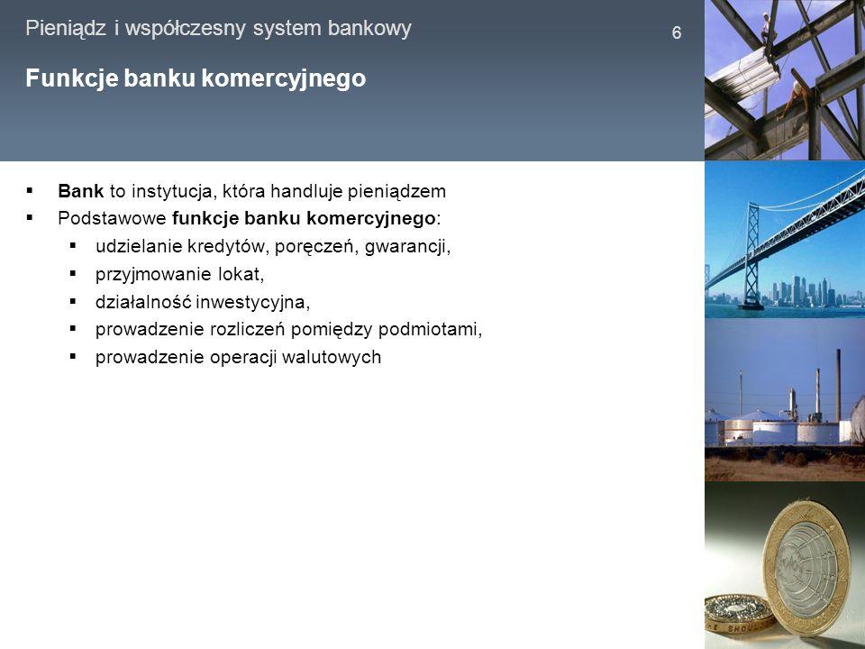Funkcje banku komercyjnego