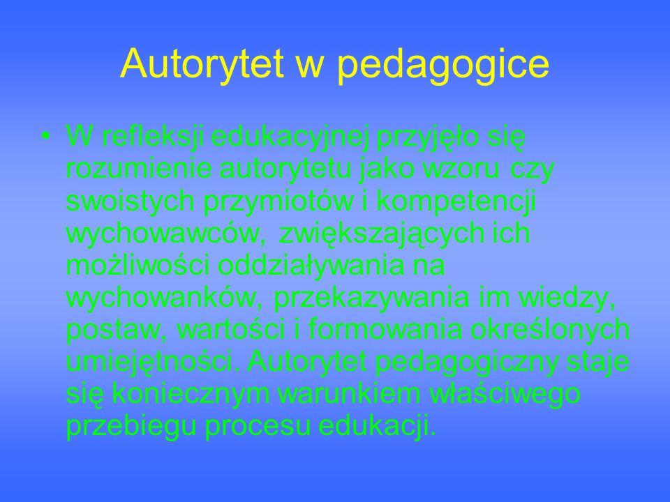 Autorytet w pedagogice