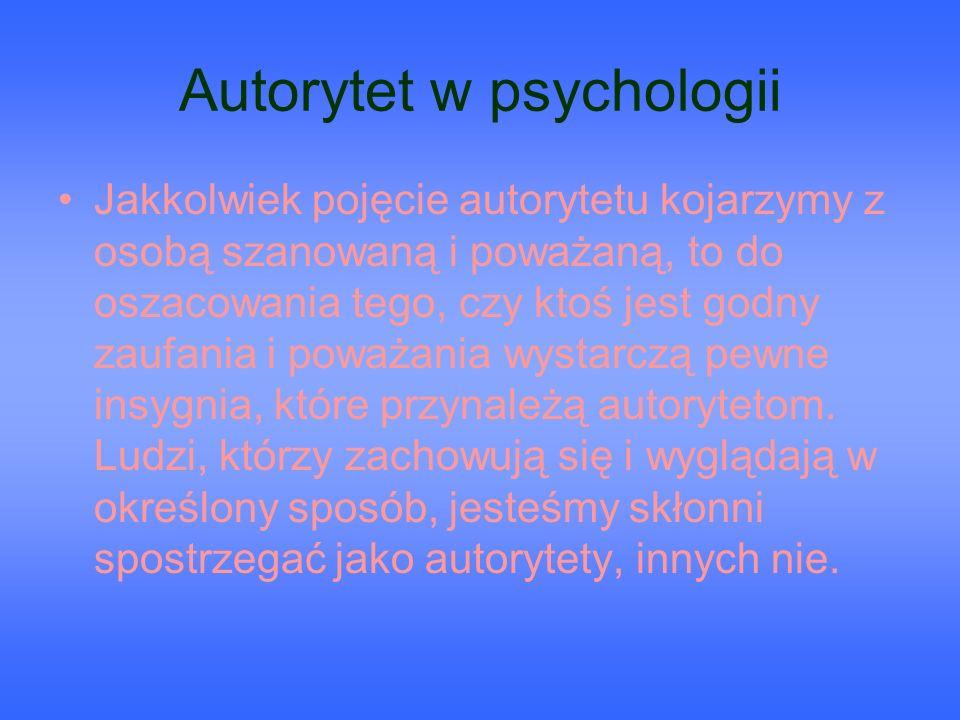 Autorytet w psychologii