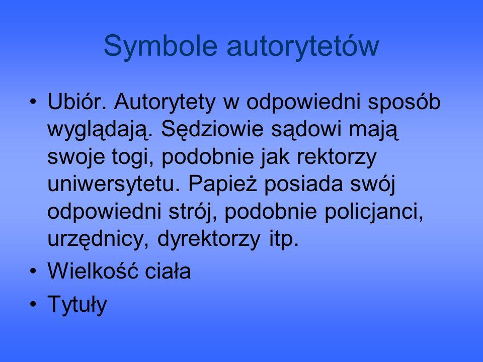Symbole autorytetów