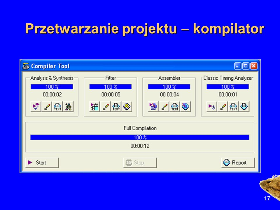 Przetwarzanie projektu - kompilator