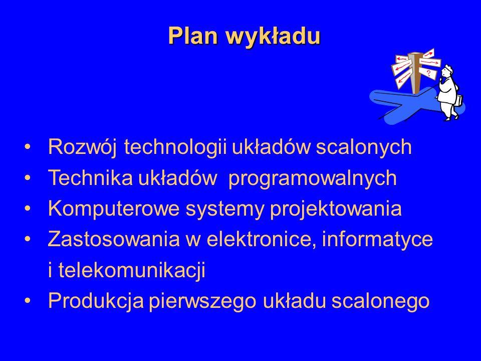 Plan wykładu Rozwój technologii układów scalonych