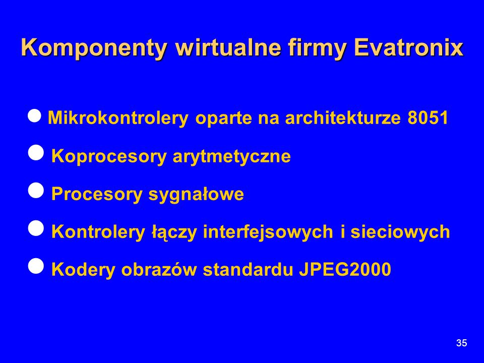 Komponenty wirtualne firmy Evatronix