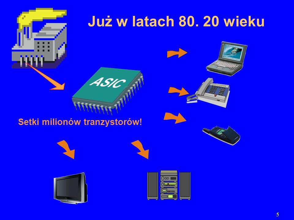 Już w latach 80. 20 wieku Setki milionów tranzystorów! 5
