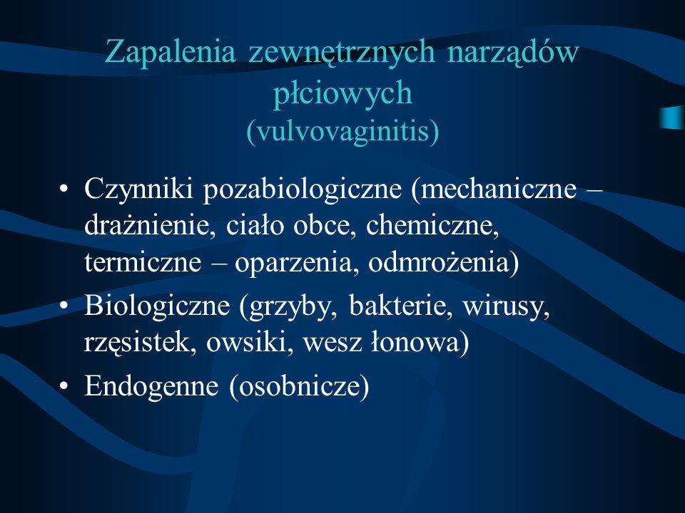 Zapalenia zewnętrznych narządów płciowych (vulvovaginitis)