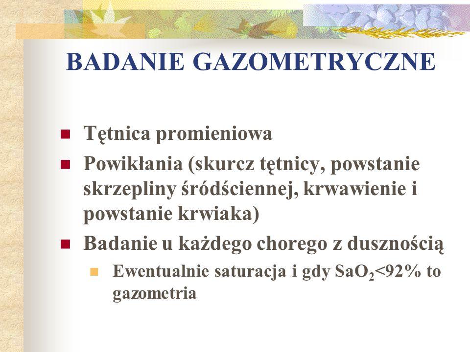 BADANIE GAZOMETRYCZNE